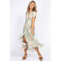Klänning Brielle  Spring green/Rose/sun