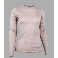 Top Merino LS  Simple taupe sand