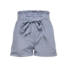 Shorts Smilla stripe  Med blue denim
