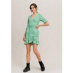 Klänning Scarlet wrap dress  Green flower