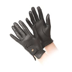 Ridhandske Aubrion läder Black