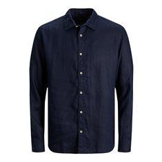 Skjorta Bluplain linen Navy blazer