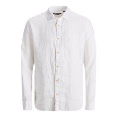 Skjorta Bluplain linen White