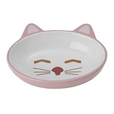 Skål Sleepy Kitty oval pink