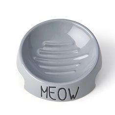 Skål Meow Gray