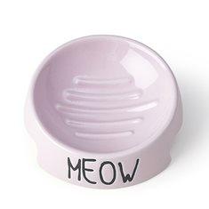 Skål Meow Pink
