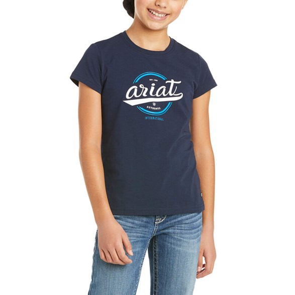 T-shirt Youth Authentic logo Navy