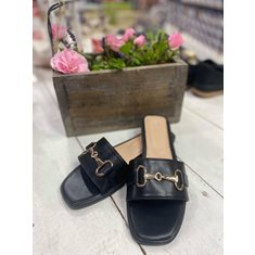 Sandal metallspänne Black