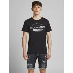 T-shirt Jeans Black slim