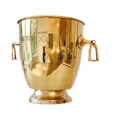 Wine cooler Etched brass