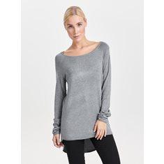 Tröja Mila lacy  Medium grey melange