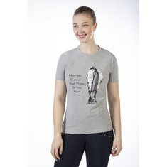 T-shirt Horse leaves hoofprint  Lt grey/melange