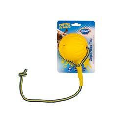 Hundleksak Flytande boll rep gul/blå