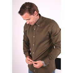Skjorta easy care Flanell Khaki