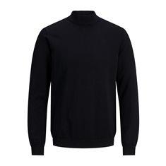 Tröja Basic knit mock Black