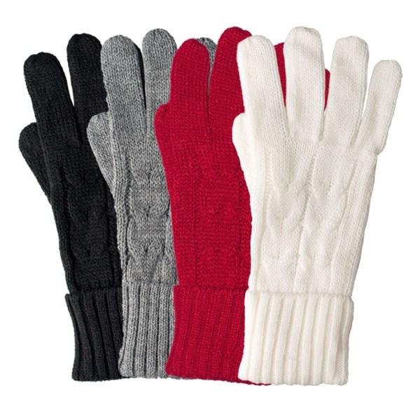 Handske stickad Arosa