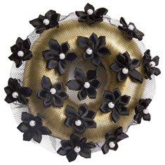Hårnät Flower Black