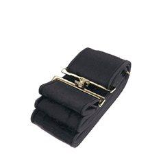 Täckesgjord elastisk svart