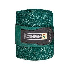 Stallbandage Glitter 2-p Glittergreen