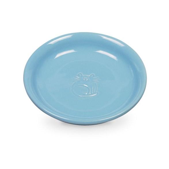 Kattfat 14x2 cm blå