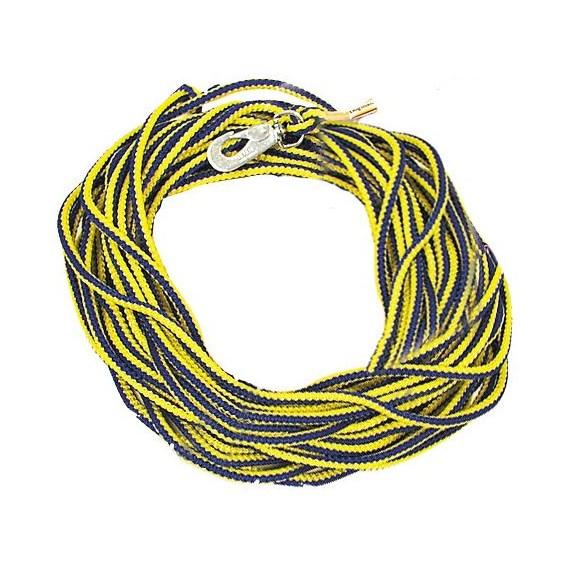 Spårlina Blå/gul 6mm 15 m