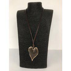 Halsband rose/brun