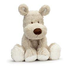 Teddy cream hund liten grå
