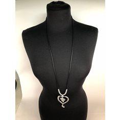 Halsband lång antik silver