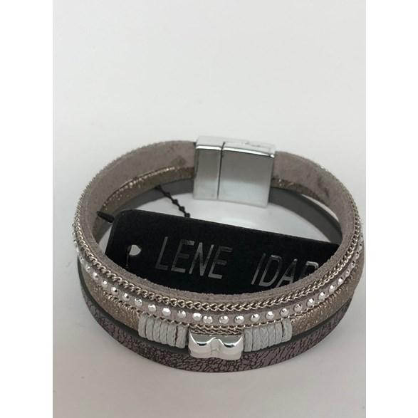 Armband svart, brun,grå