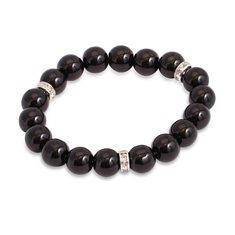 Pearl Decorative Scrunchi black