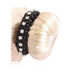Hårsnodd Pearl/Crystal black