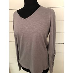T-shirt Lou LS lace  grey