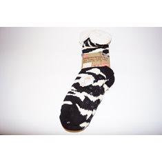 Strumpa dam svart/vit zebra