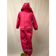 Regnset Pu+Fleece  Pink