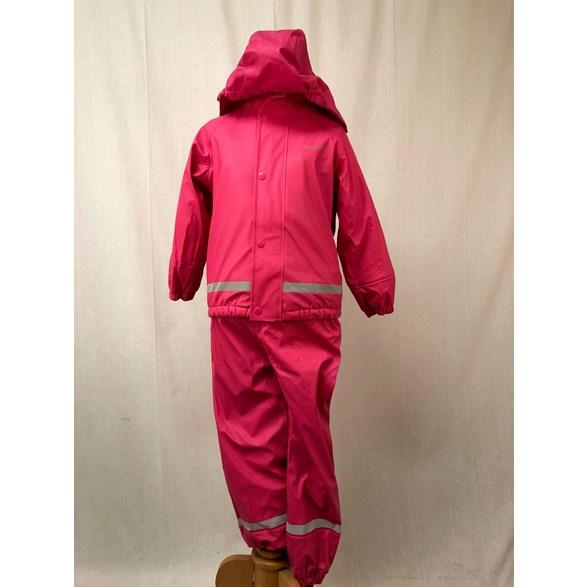 Regnset Pu+Fleece  Pink