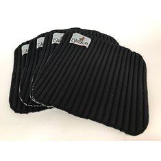 Bandageunderlägg 4p 35x35 black