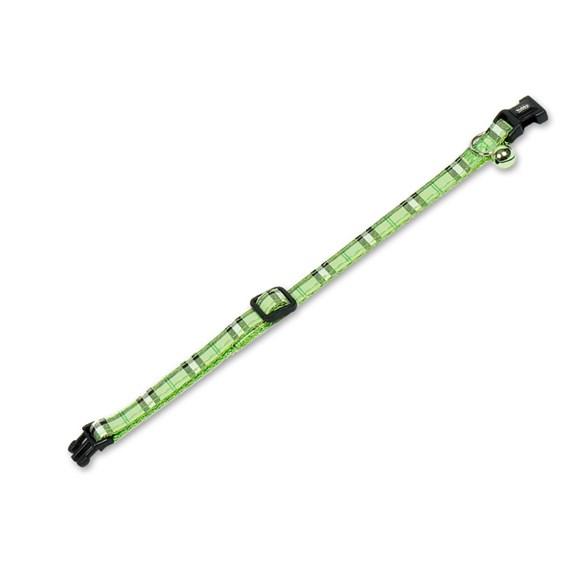 Katthalsband nylon grön