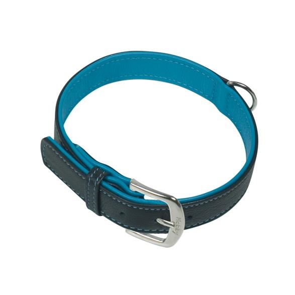 Halsband Läder Pacific Turkos