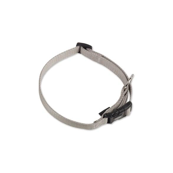 Halsband Nylon-Classic 13-20 cm mgrå