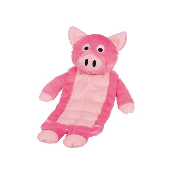 Hundleksak gris 30cm rosa/beige