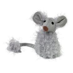 Kattleksak sittande mus grå