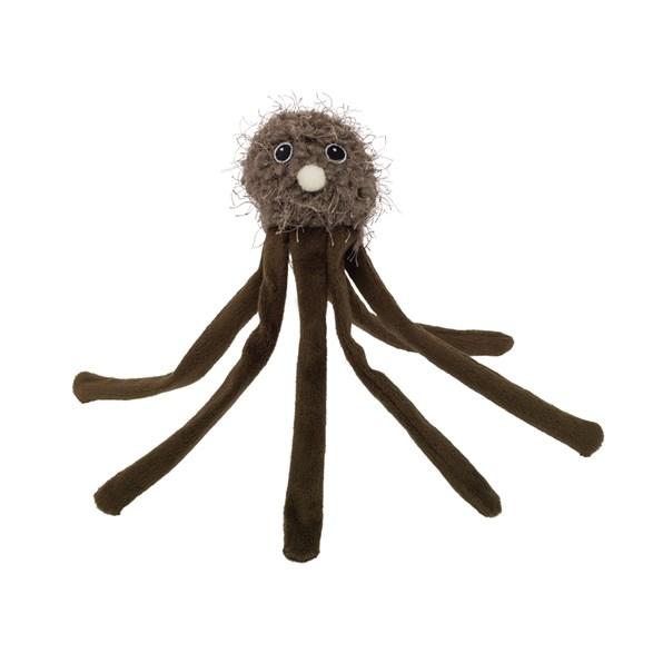 Kattleksak bläckfisk 24cm brun