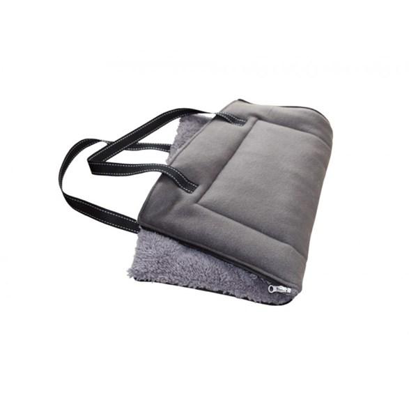 Bädd/väska Shanta plysch 60x40 grå