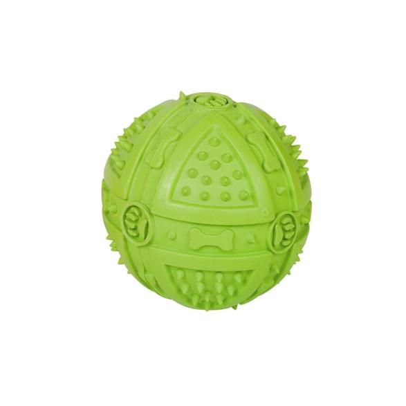 Hundleksak Boll gummi 9cm grön