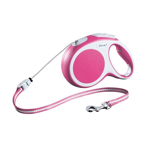 Koppel Flexi Vario M cord 8m rosa