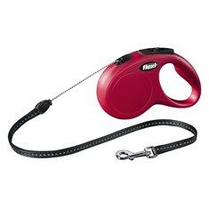 Koppel Flexi New Classic röd S 5m