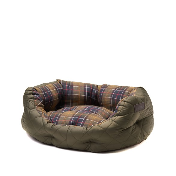 Quilted Dog Bed Olive 24""