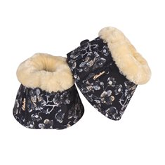 Boots Fauxfur  Deepblue flower