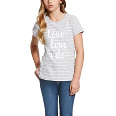 T-shirt Live Love  Heathergrey