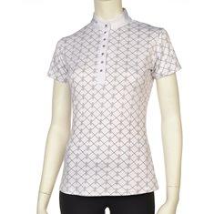 Tävlingsskjorta Dawn print  vit/grå